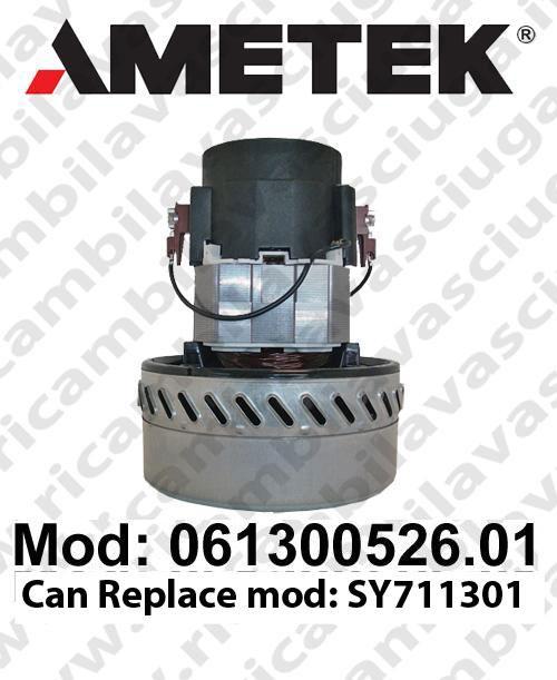 MOTEUR ASPIRATION 061300526.01 AMETEK pour autolaveuses et aspirateur. Remplace  MOTEUR SY711301