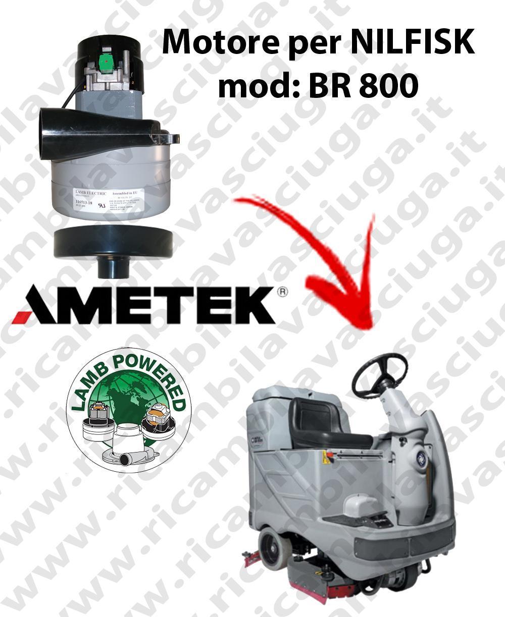 BR 800 MOTEUR ASPIRATION LAMB AMETEK pour autolaveuses NILFISK