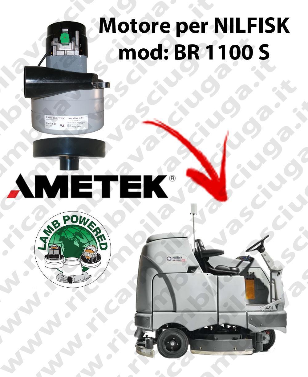 BR 1100 S MOTEUR ASPIRATION LAMB AMETEK pour autolaveuses NILFISK