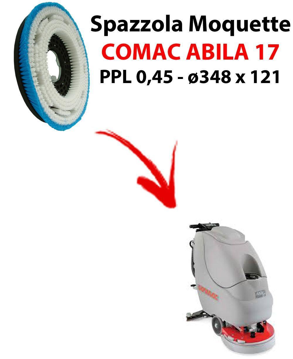 BROSSE MOQUETTE  pour autolaveuses COMAC ABILA 17. Reference: PPL 0,45 C/FLANGIA diamétre 348 X 121