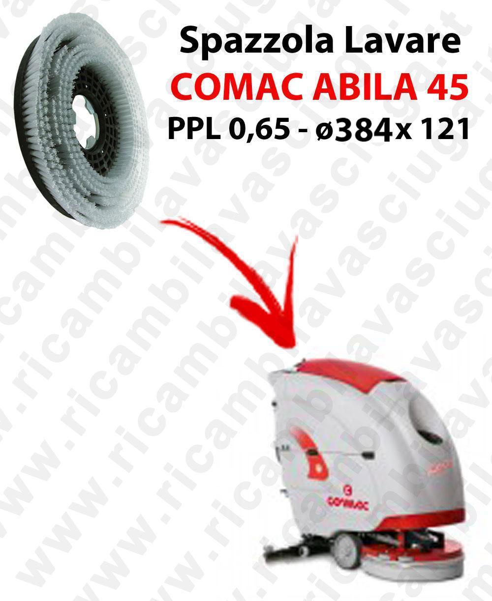 BROSSE A LAVER pour autolaveuses COMAC ABILA 45. Reference: PPL 0,65  diamétre 384 X 121