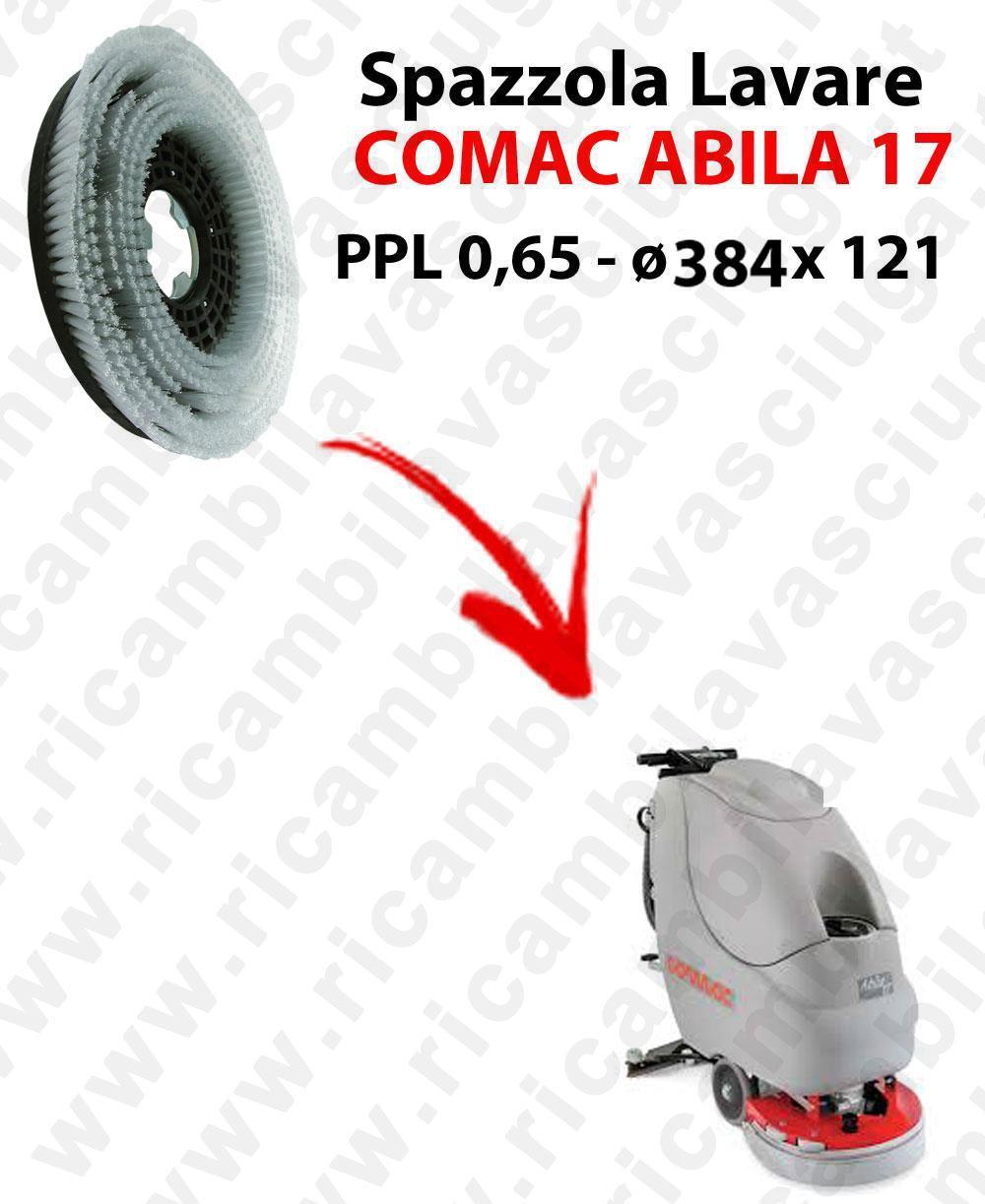 BROSSE A LAVER pour autolaveuses COMAC ABILA 17. Reference: PPL 0,65  diamétre 384 X 121