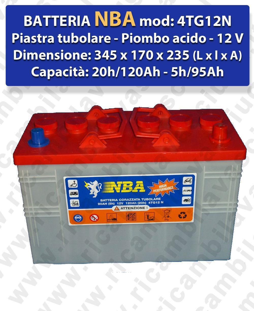 4TG12N BATTERIE plombe - NBA 12V 120Ah 20/h