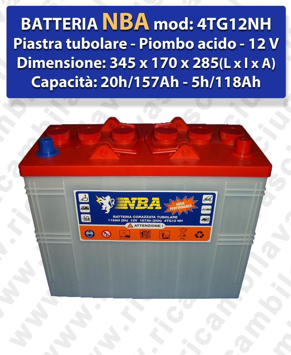 4TG12NH BATTERIE plombe - NBA 12V 120Ah 20/h