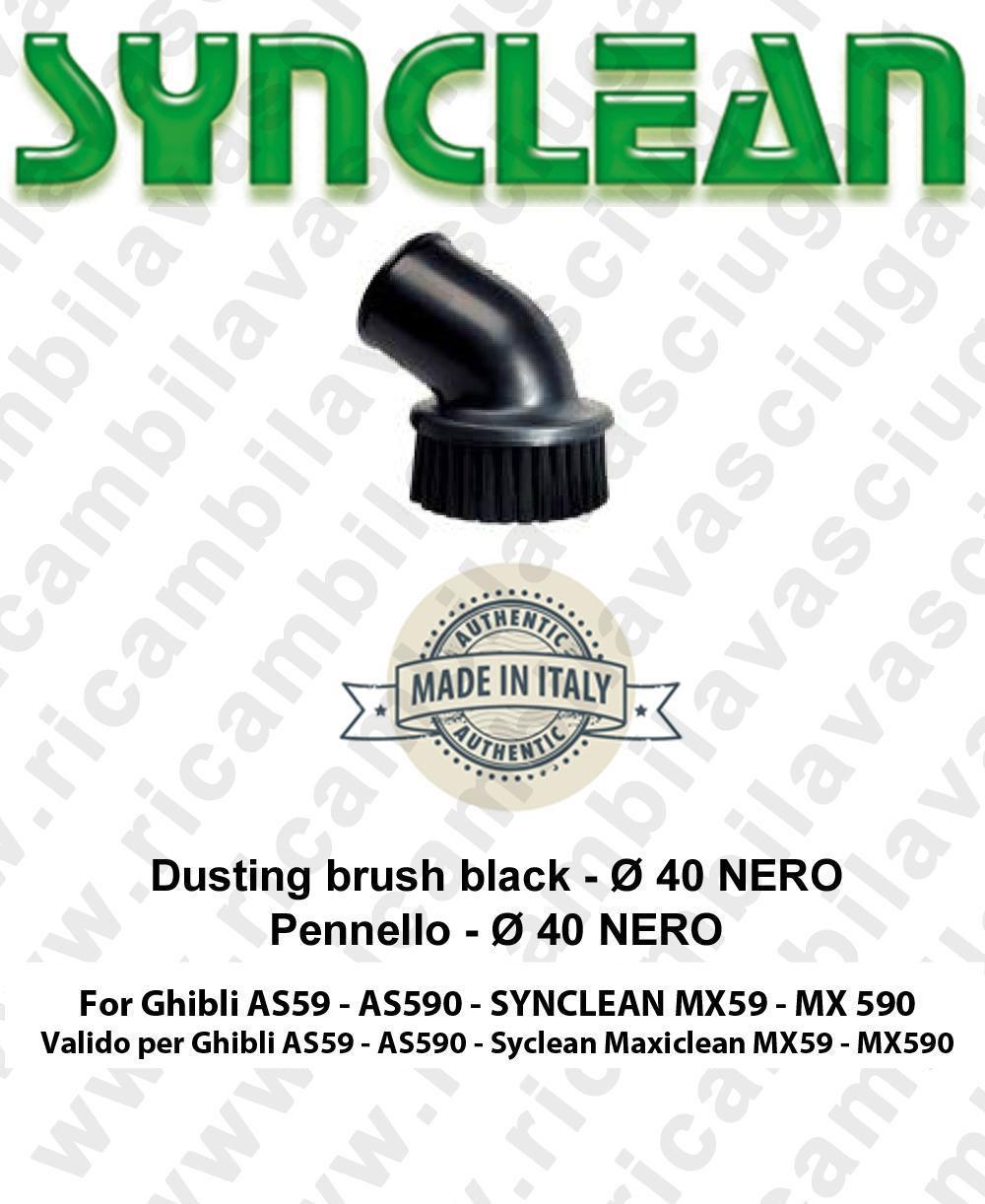 Staubpinsel schwarz ø 40 für Staubsauger GHIBLI AS59-AS590 und Synclean Maxiclean MX59-MX590