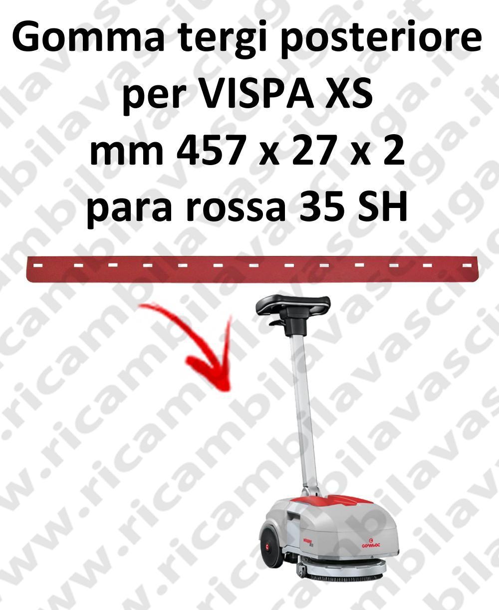 VISPA XS BAVETTE ARRIERE pour COMAC rechange autolaveuses suceur