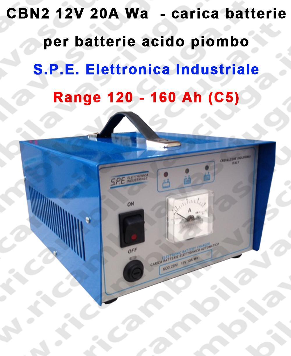 CBN2 12V 20A Wa chargeur de batterie pour batterie acido plombe S.P.E. Elettronica Industriale