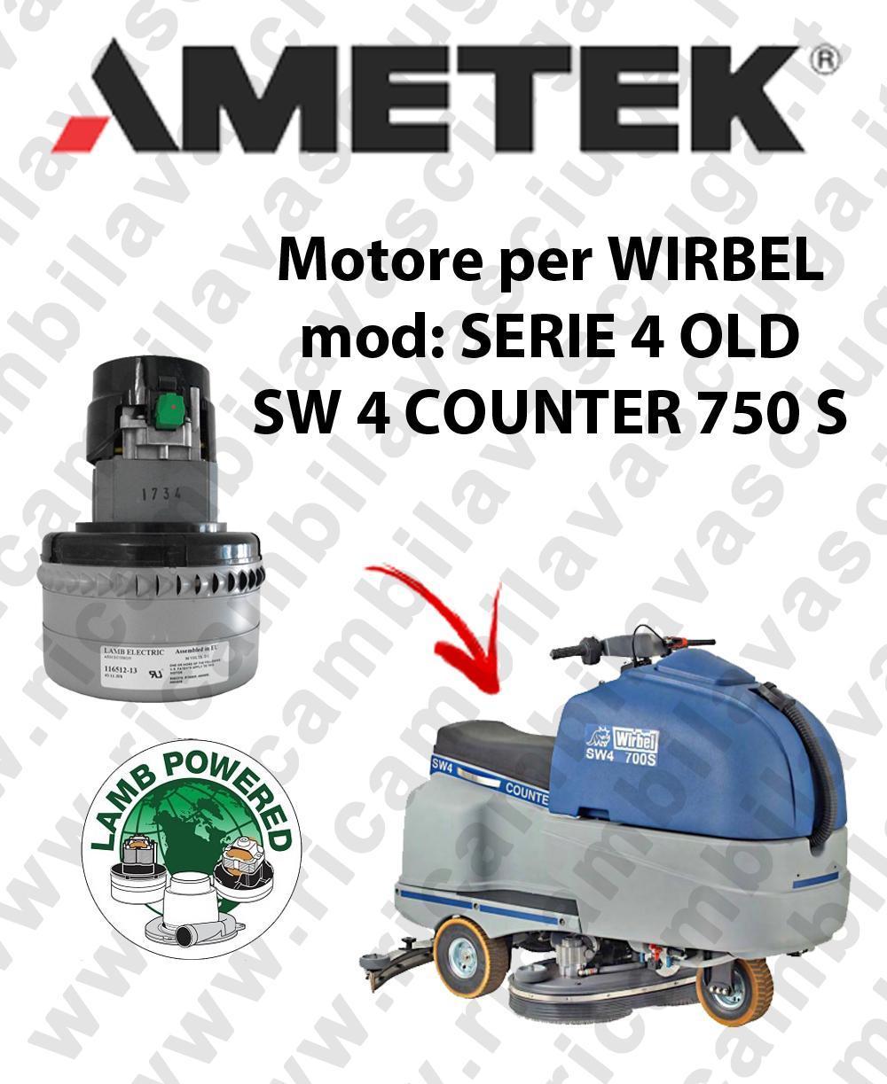 SERIE 4 OLD SW 4 COUBNTER 750S Saugmotor LAMB AMETEK für scheuersaugmaschinen WIRBEL