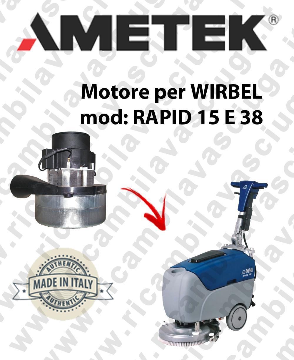RAPID 15 ünd 38 Saugmotor AMETEK für scheuersaugmaschinen WIRBEL