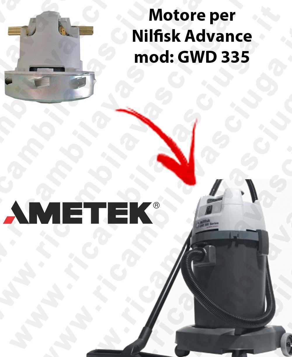 GWD 335  MOTEUR ASPIRATION AMETEK pour aspirateur Nilfisk Advance
