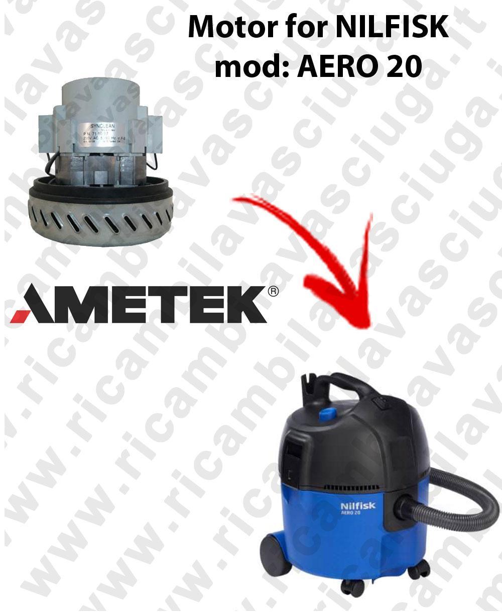 AERO 20 Saugmotor AMETEK für Staubsauger NILFISK