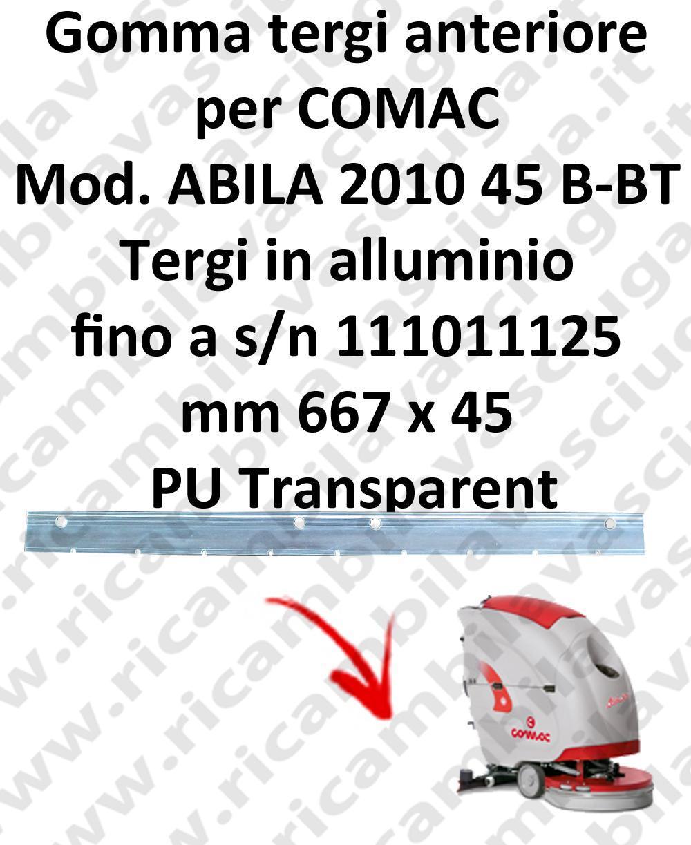 ABILA 2010 45 B - BT jusqu'au numéro de série 111011125 BAVETTE AVANT pour COMAC rechange autolaveuses suceur