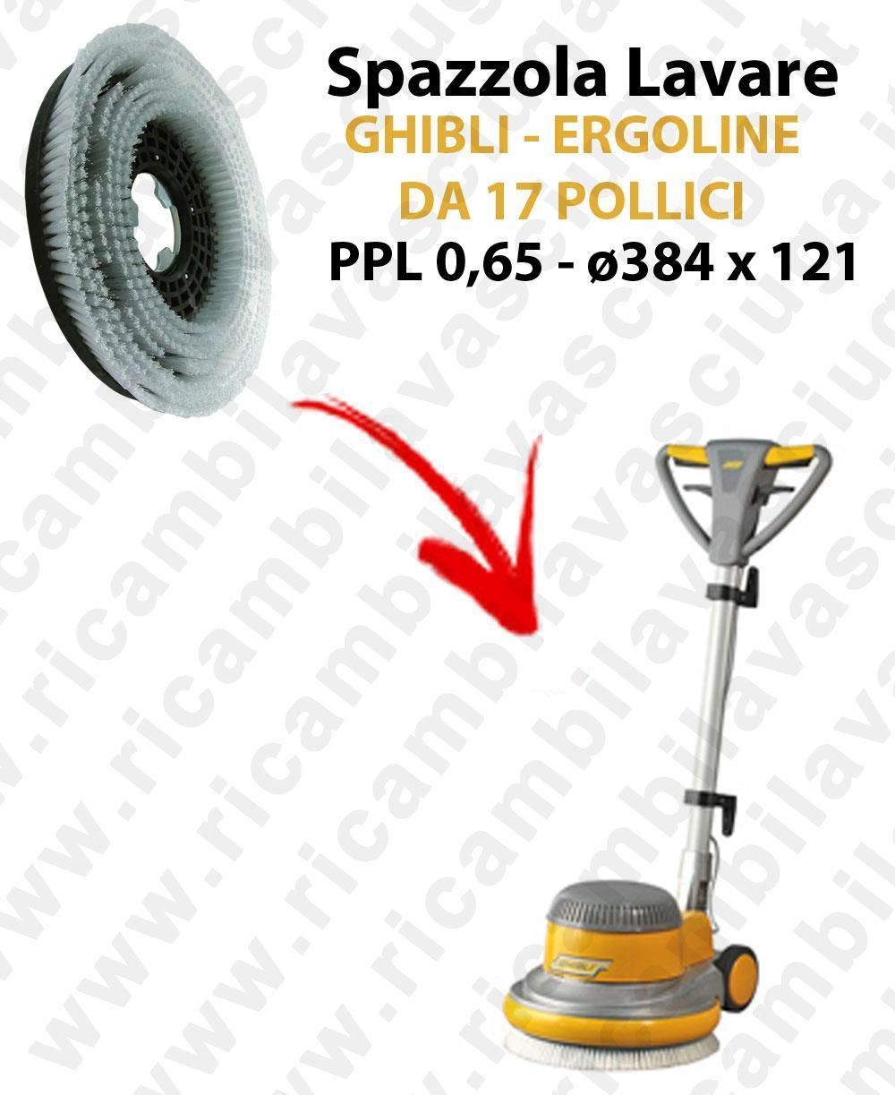 BROSSE A LAVER pour monoBROSSE GHIBLI  ERGOLINE de 17 pouce (SB143). Reference: PPL 0,65  diamétre 384 X 121