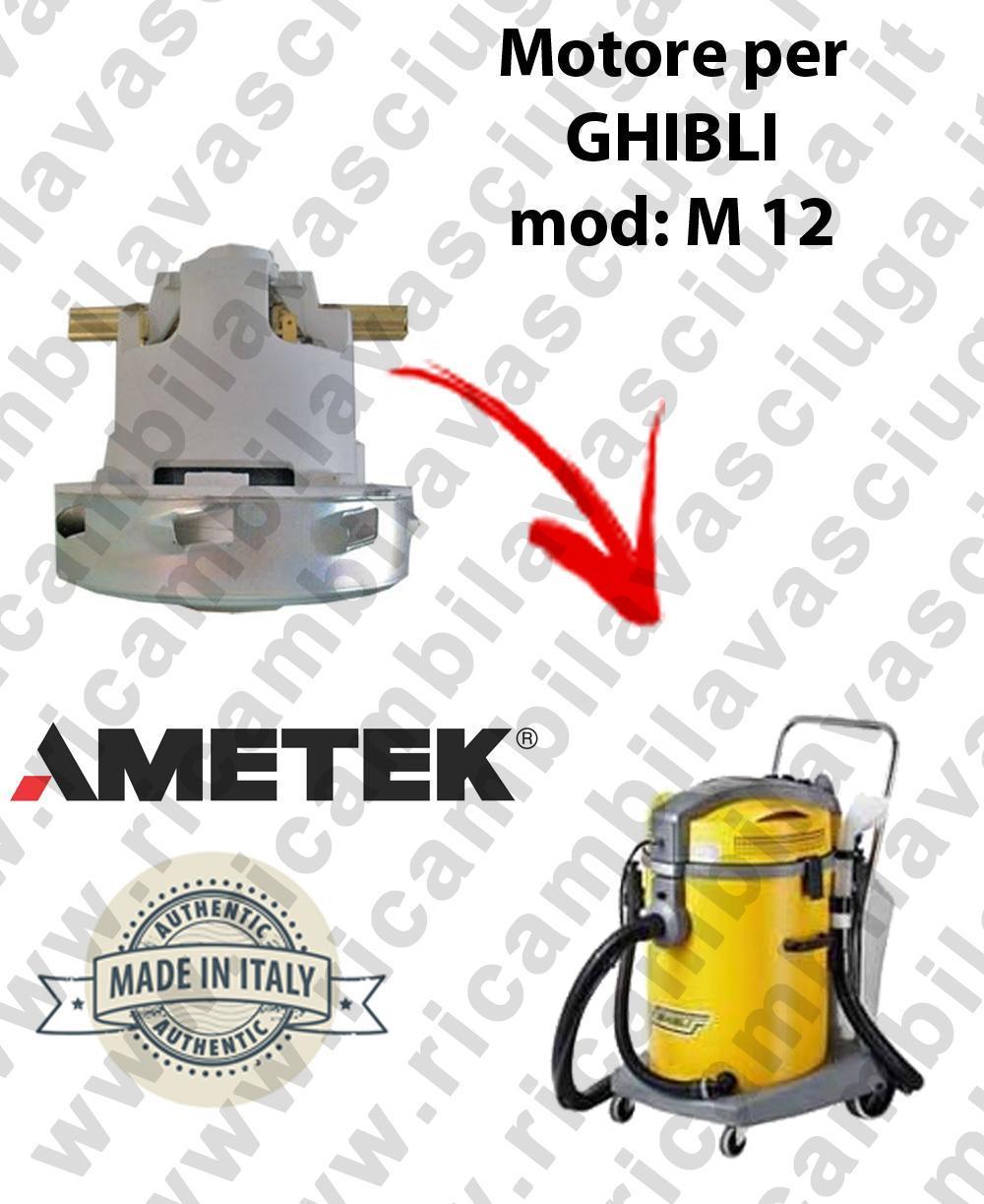 M 12 MOTEUR ASPIRATION pour machine d'extracteur moquette GHIBLI