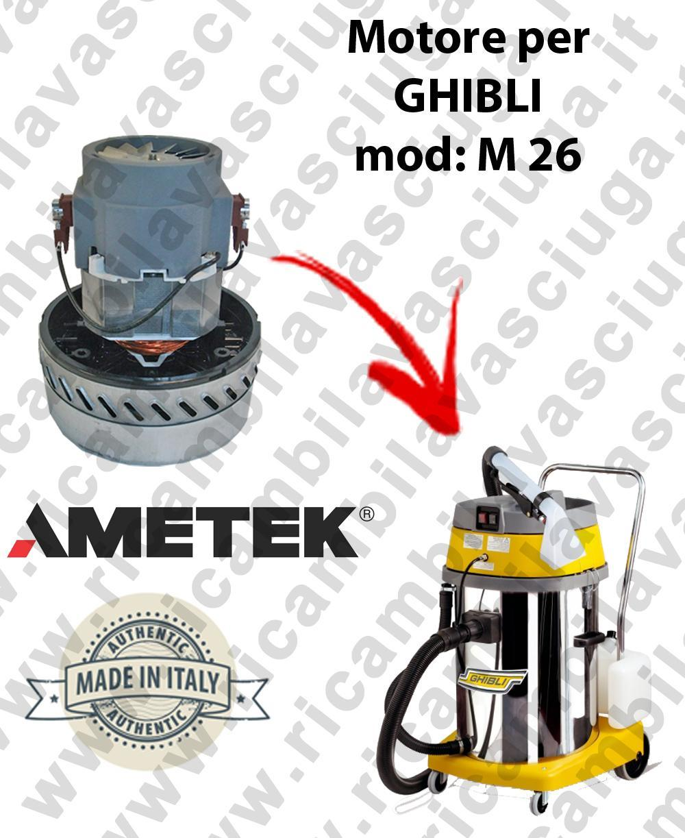 M 26 MOTEUR ASPIRATION pour machine d'extracteur moquette GHIBLI