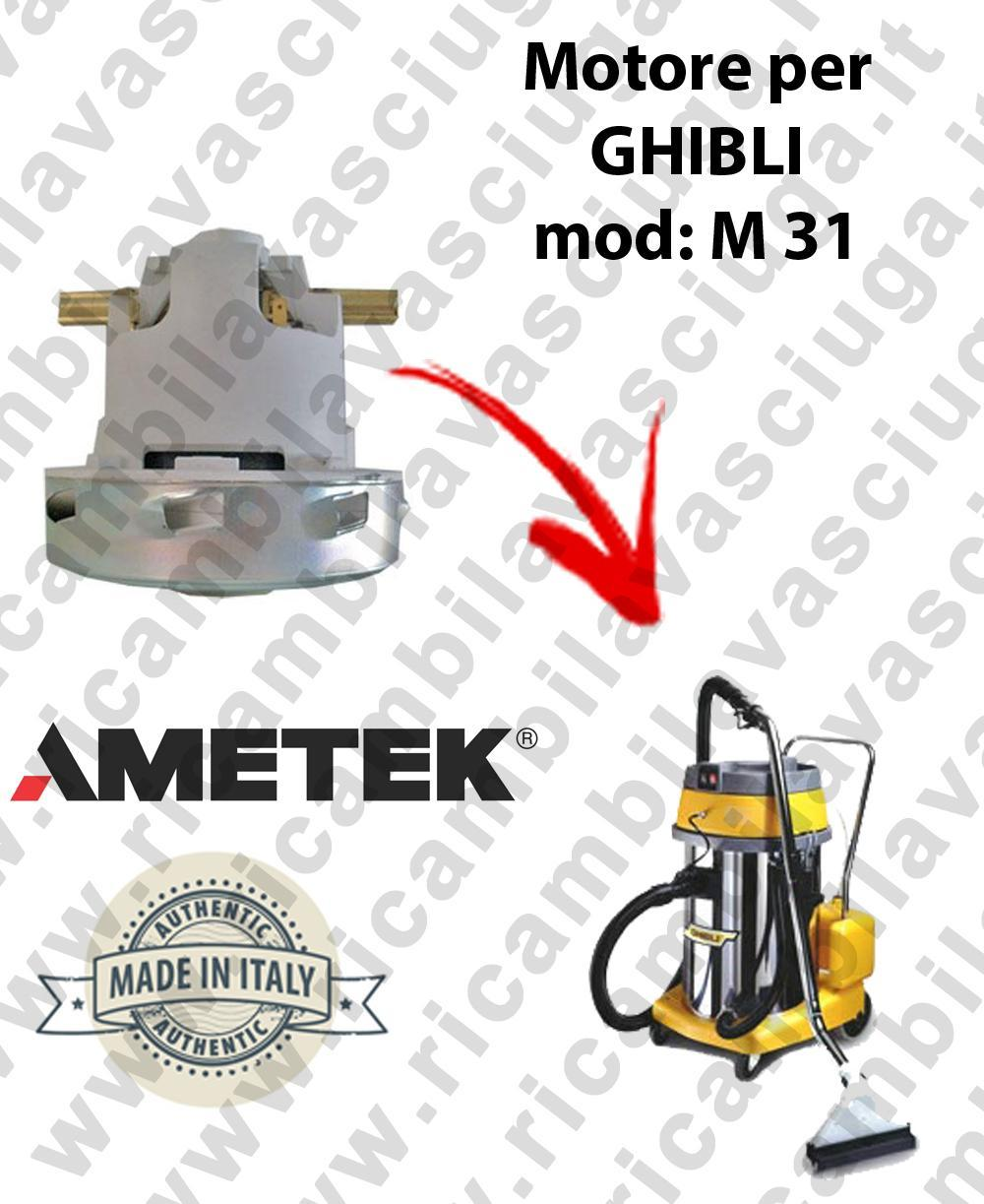 M 31 MOTEUR ASPIRATION pour machine d'extracteur moquette GHIBLI