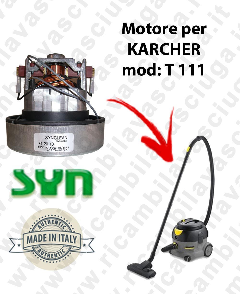 t 111 moteur aspiration synclean pour aspirateur karcher inclema fr. Black Bedroom Furniture Sets. Home Design Ideas