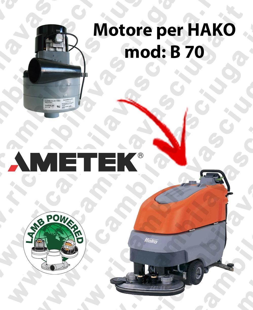 B 70 MOTEUR ASPIRATION LAMB AMATEK pour autolaveuses HAKO
