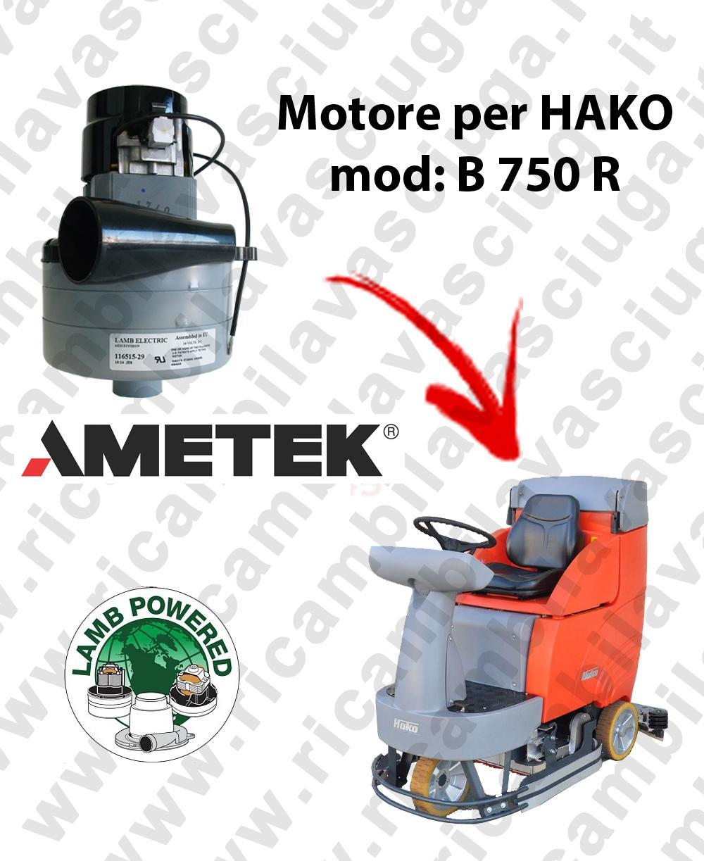 B 750 R MOTEUR ASPIRATION LAMB AMATEK pour autolaveuses HAKO