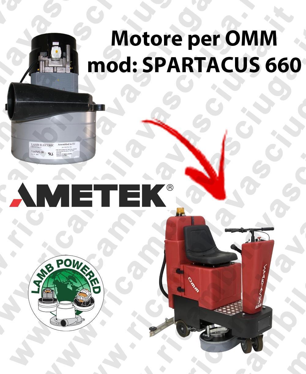 SPARTACUS 660 MOTEUR ASPIRATION LAMB AMATEK pour autolaveuses OMM