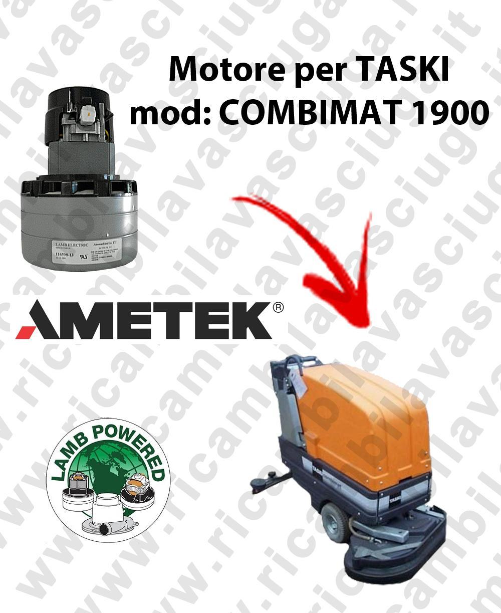 COMBIMAT 1900 MOTEUR ASPIRATION LAMB AMATEK pour autolaveuses TASKI