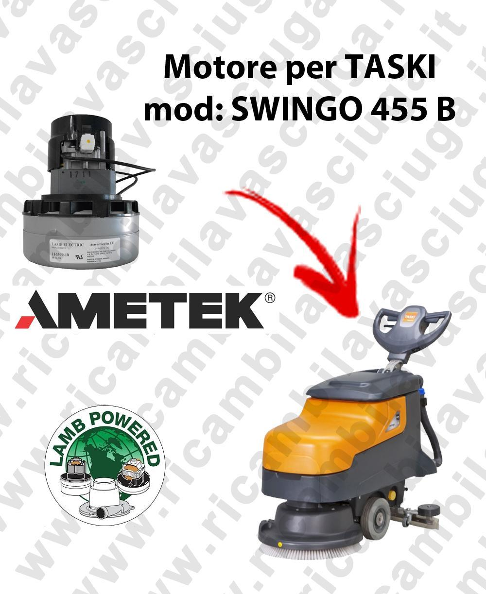 SWINGO 455 B MOTEUR ASPIRATION LAMB AMATEK pour autolaveuses TASKI