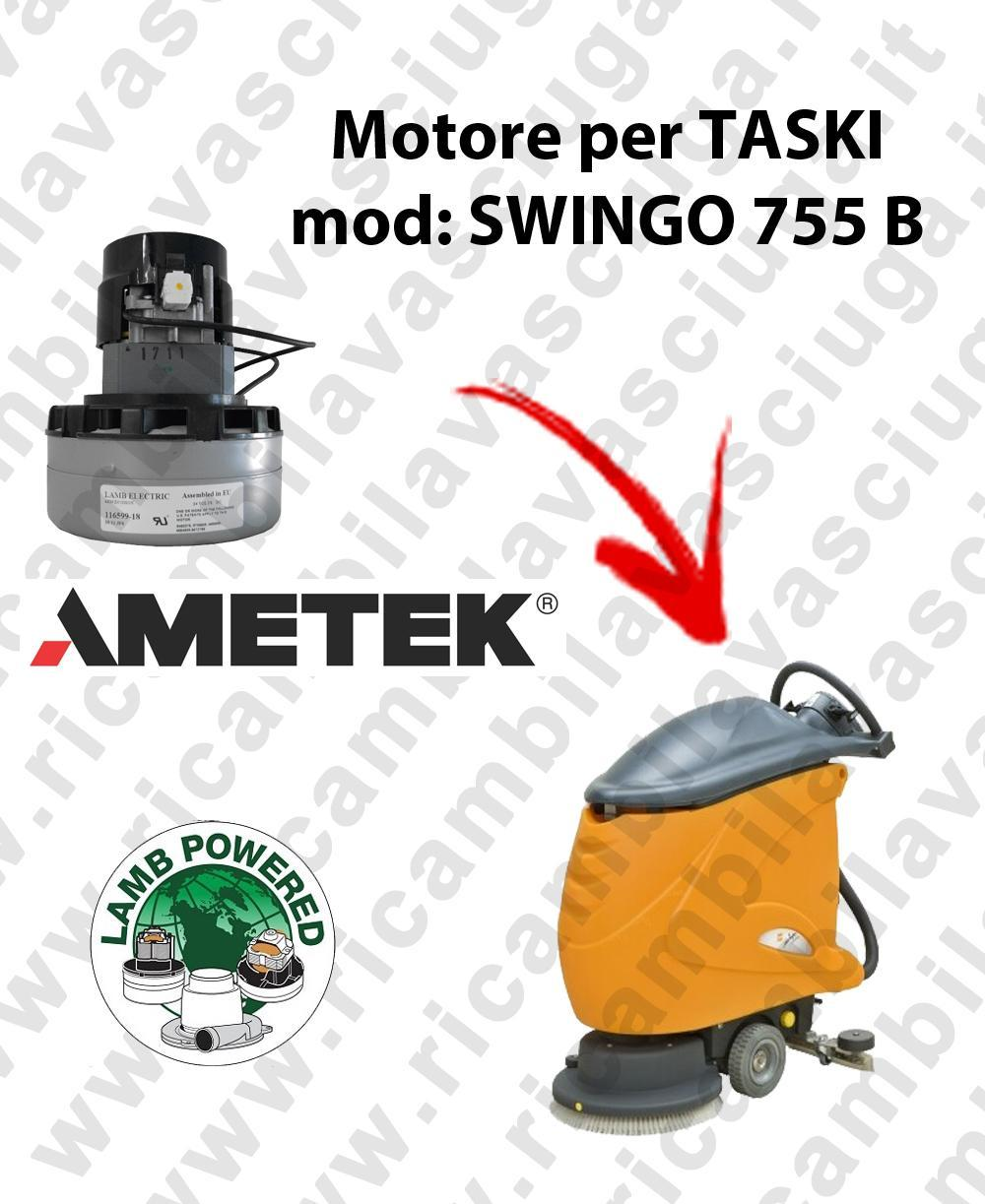 SWINGO 755 B MOTEUR ASPIRATION LAMB AMATEK pour autolaveuses TASKI