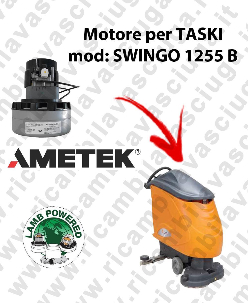 SWINGO 1255 B MOTEUR ASPIRATION LAMB AMATEK pour autolaveuses TASKI