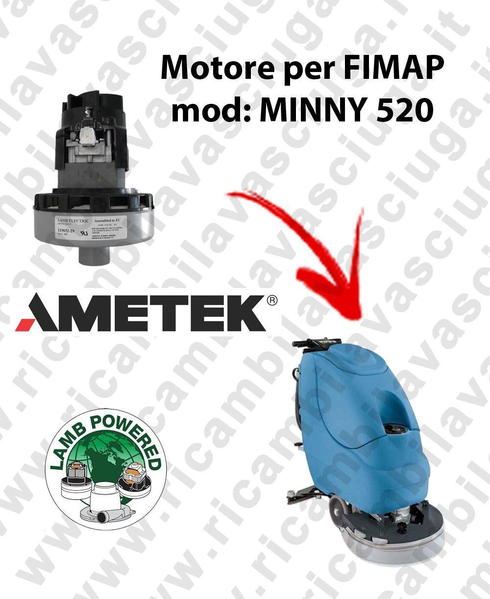 MYNNY 520 MOTEUR ASPIRATION LAMB AMATEK pour autolaveuses FIMAP