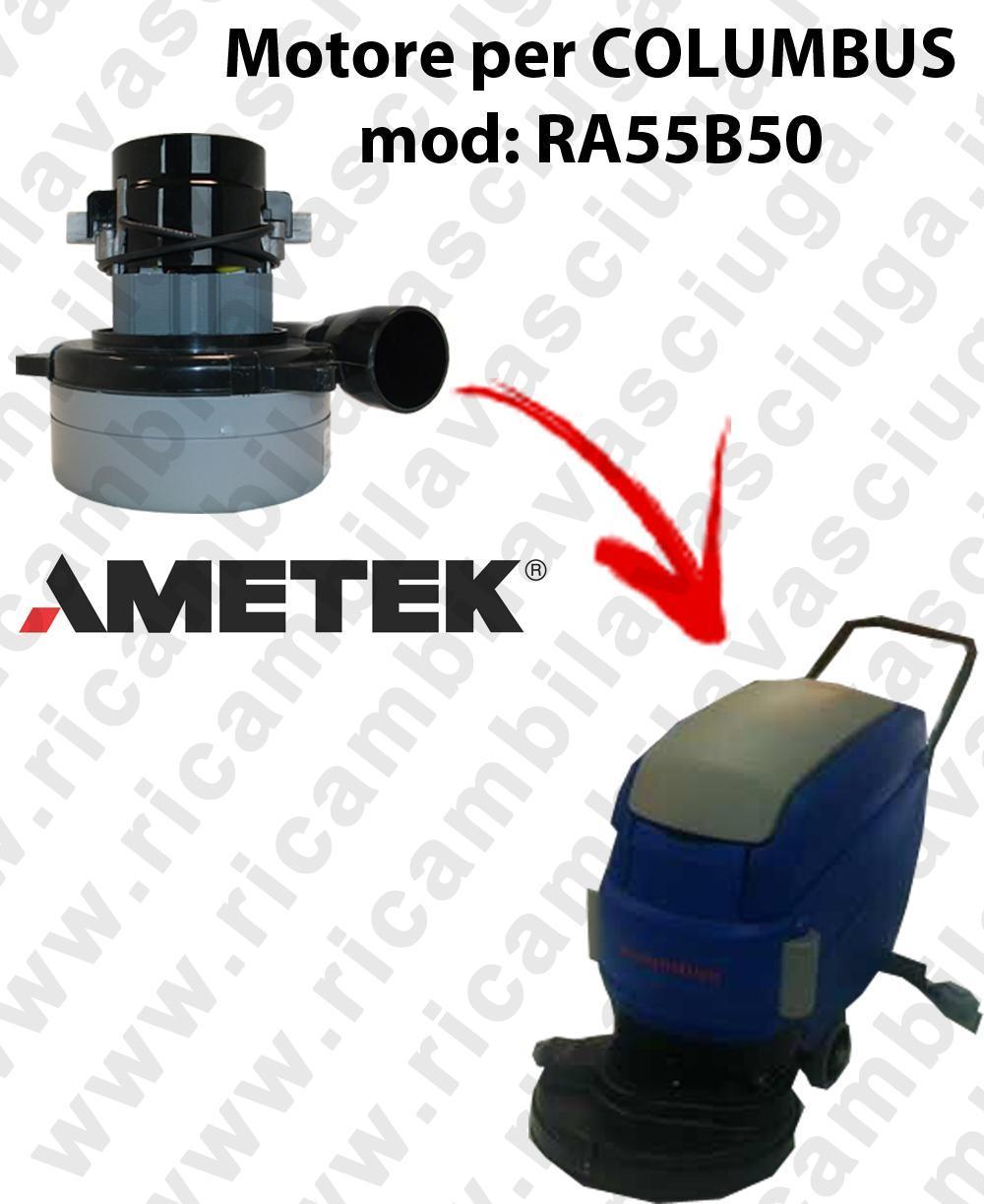 RA55B50 MOTEUR ASPIRATION LAMB AMATEK pour autolaveuses COLUMBUS