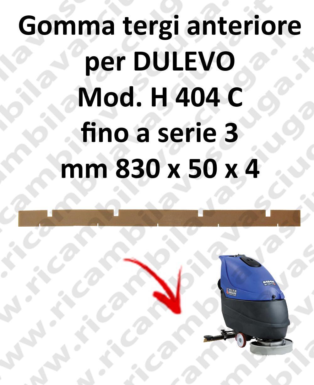 H 404 C Vorne sauglippen für scheuersaugmaschinen bis zurSeriennummer 3 DULEVO