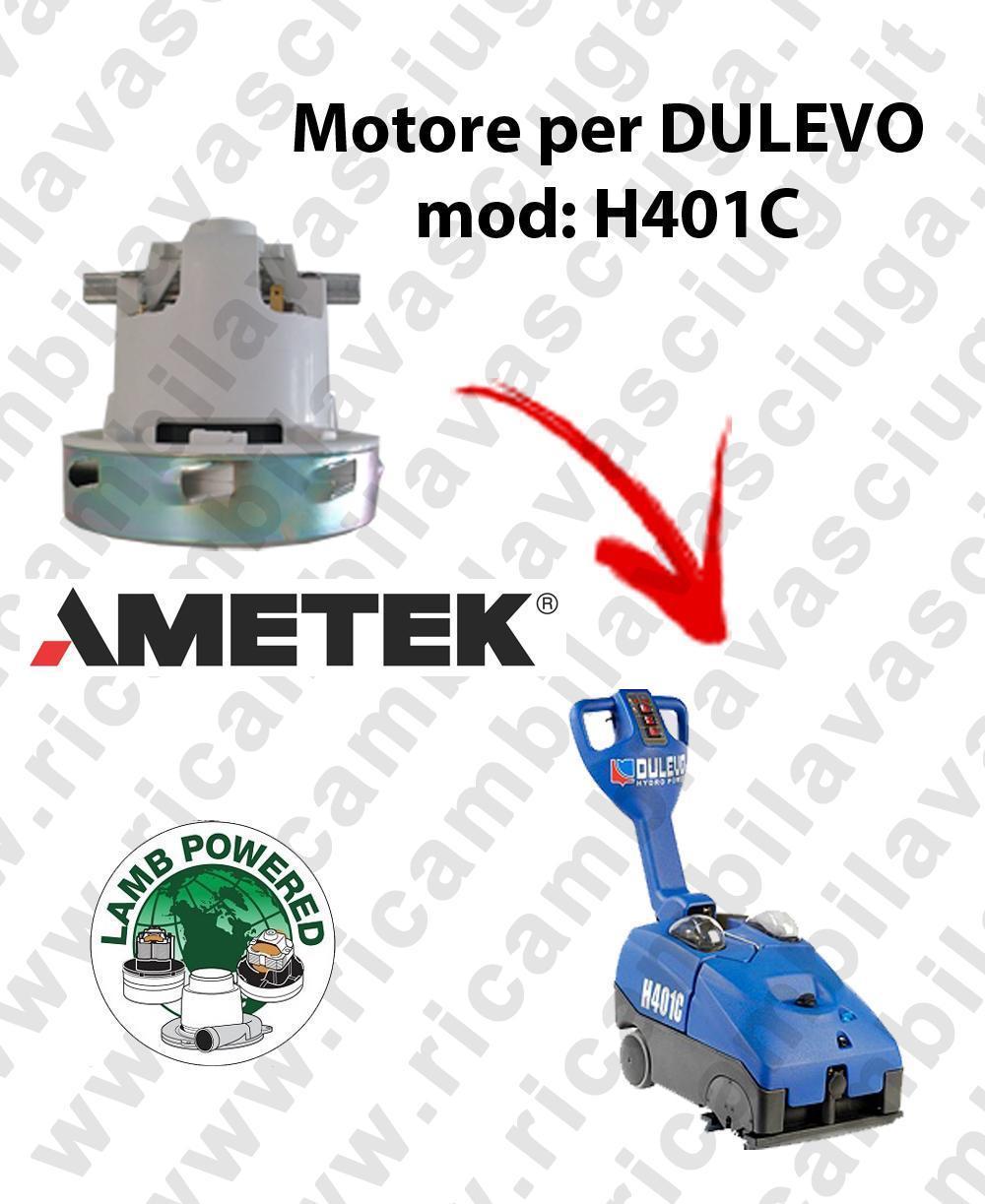 H401 C MOTEUR AMETEK aspiration pour autolaveuses DULEVO