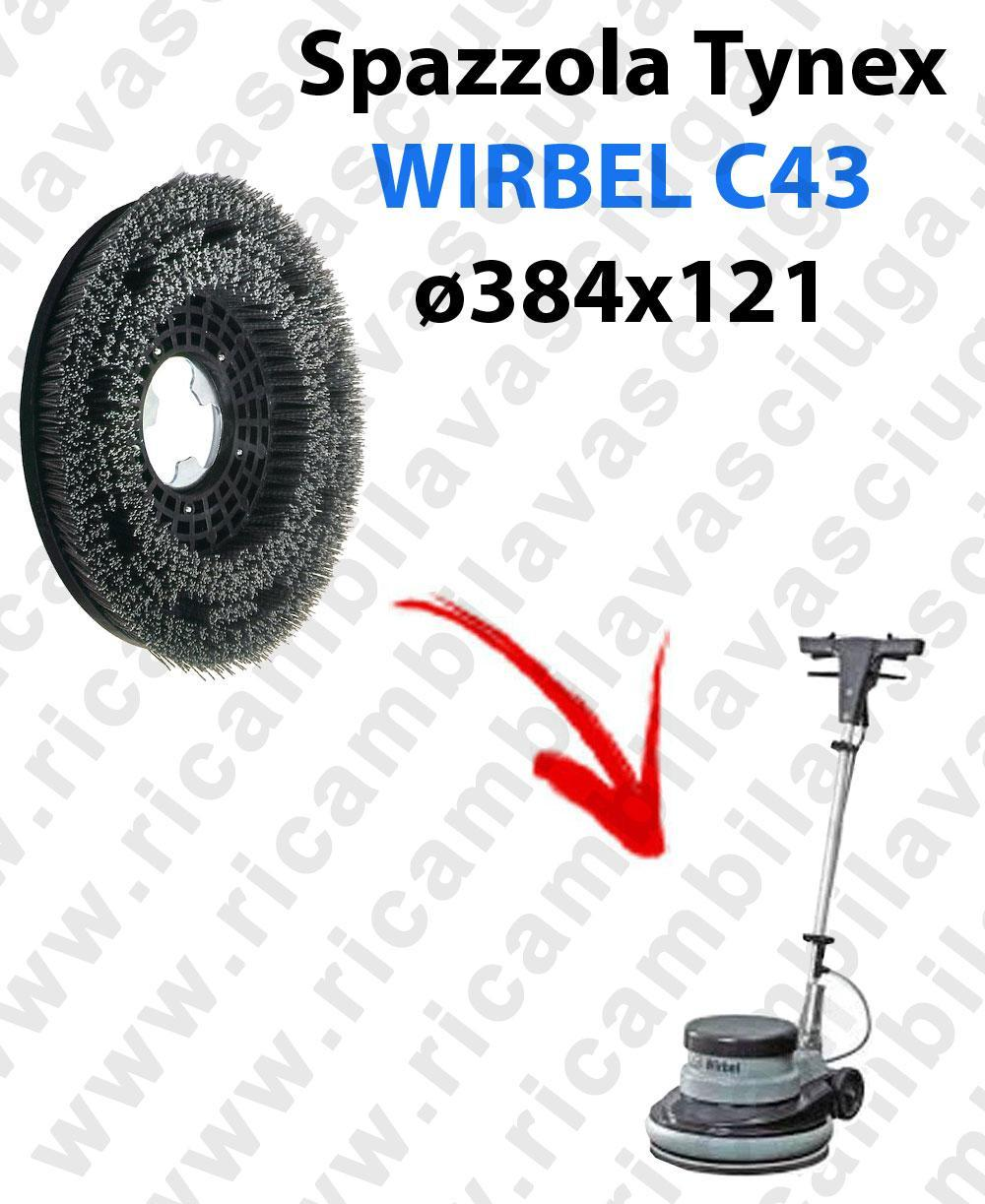 BROSSE TYNEX  pour mono BROSSE WIRBEL C43. Reference: tynex  diamétre 384 X 121