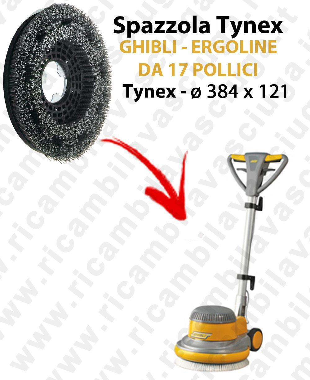 BROSSE TYNEX  pour mono BROSSE GHIBLI ERGOLINE 17 pouce. Reference: tynex  diamétre 384 X 121