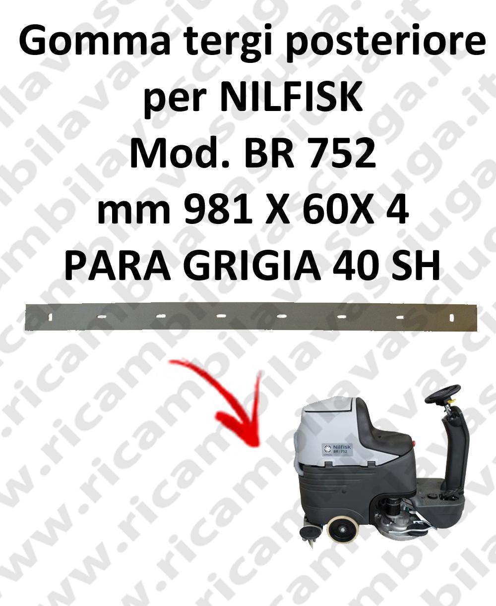 BR 752 Hinten sauglippen für scheuersaugmaschinen NILFISK
