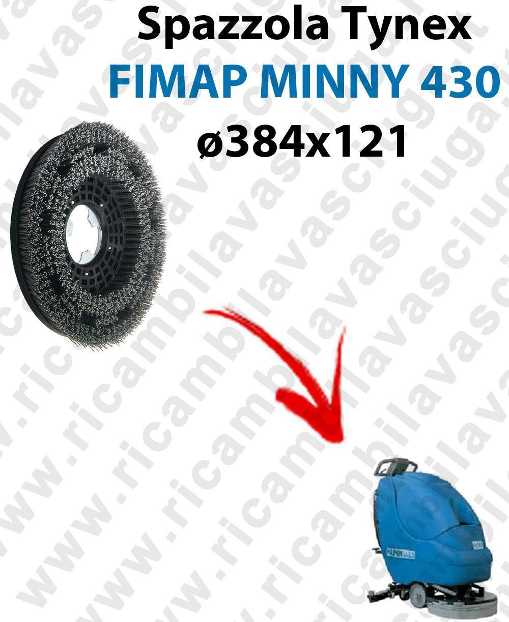 BROSSE TYNEX  pour autolaveuses FIMAP MINNY 430. Reference: tynex  diamétre 384 X 121