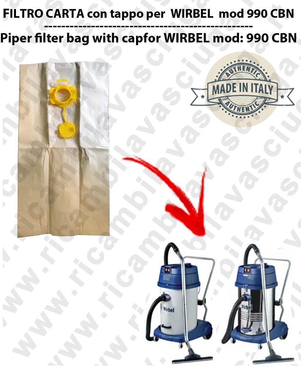Papierfilter liter 19 mit stopper 10 Stücke für Staubsauger WIRBEL 990 CBN