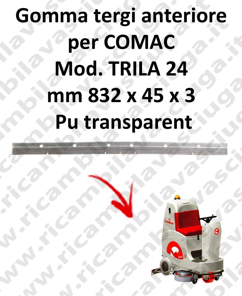 TRIPLA 24 B Vorne sauglippen für scheuersaugmaschinen COMAC