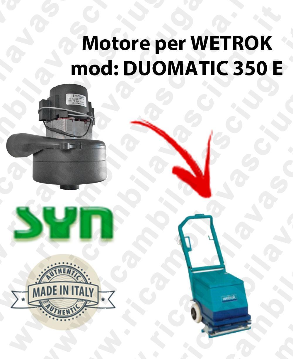 DUOMATIC 350 et MOTEUR ASPIRATION LAMB AMATEK pour autolaveuses WETROK