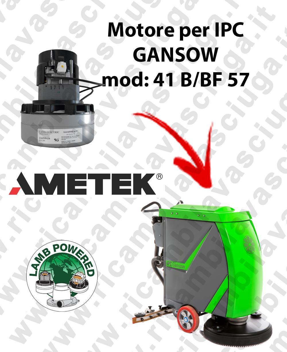 41 B/BF 57 MOTEUR ASPIRATION LAMB AMATEK pour autolaveuses IPC GANSOW