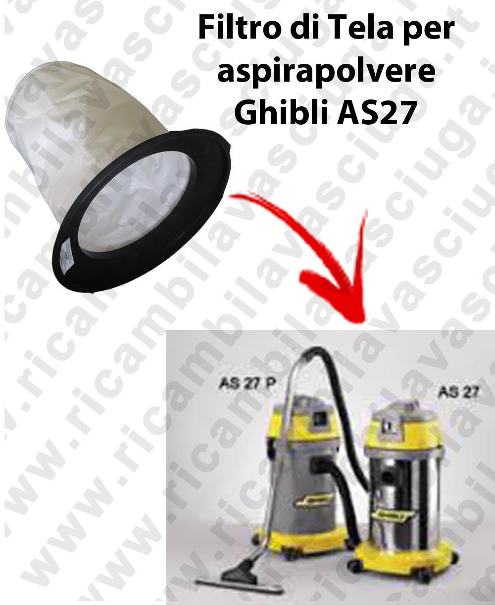 FILTRE TOILE pour aspirateur GHIBLI Reference AS 27