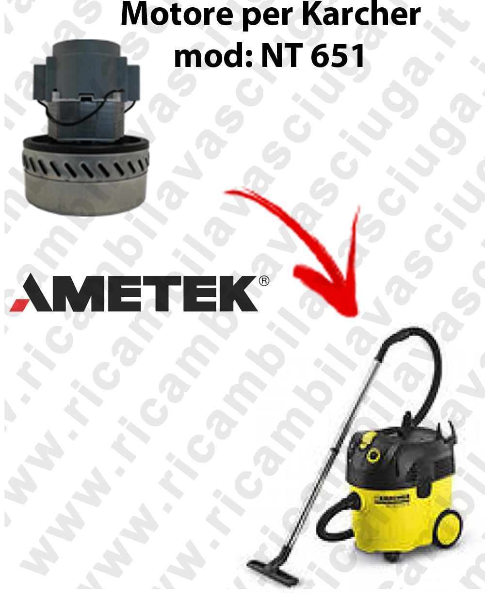 NT 651 MOTEUR ASPIRATION AMETEK  pour aspirateur KARCHER