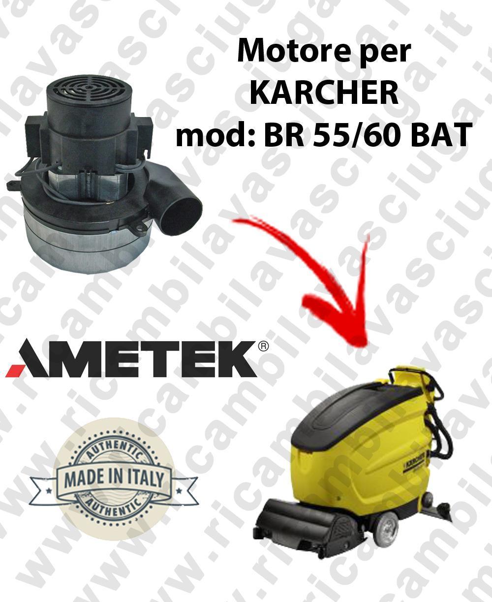 BR 55/60 BATT MOTEUR AMETEK aspiration pour autolaveuses KARCHER