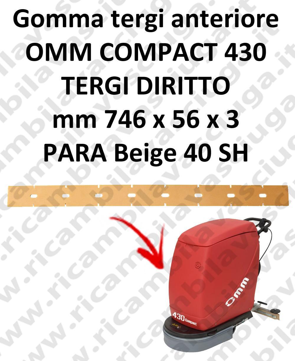 430 COMPACT BAVETTE AVANT pour autolaveuses droit OMM