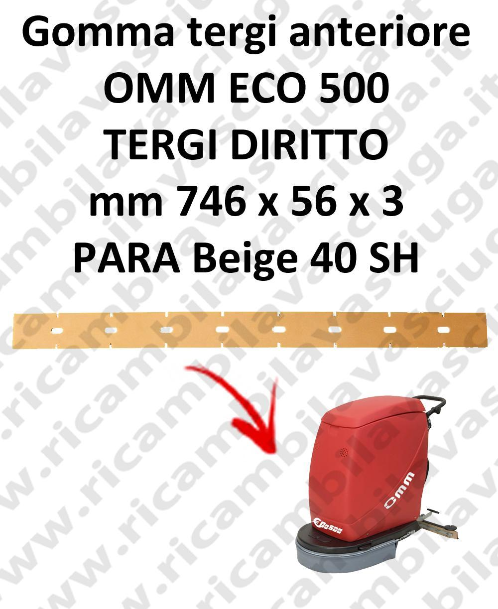 ECO 500 BAVETTE AVANT pour autolaveuses droit OMM