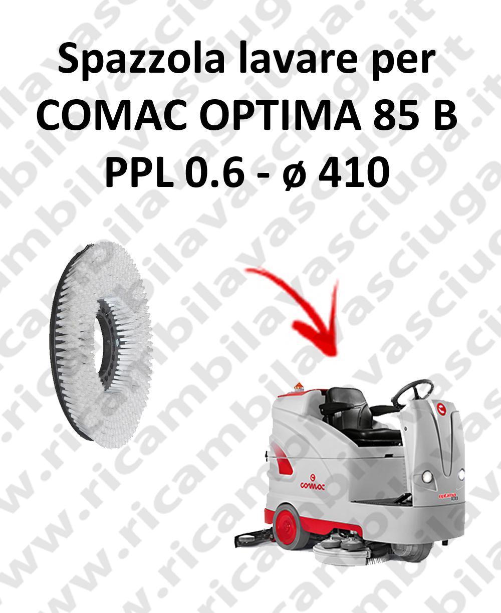 BROSSE A LAVER pour autolaveuses COMAC OPTIMA 85B Reference: PPL 0.6  diamétre 410