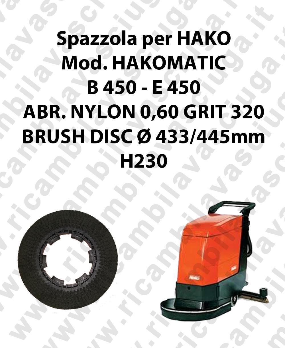 BROSSE A LAVER pour autolaveuses HAKO Reference HAKOMATIC B 450 - et 450