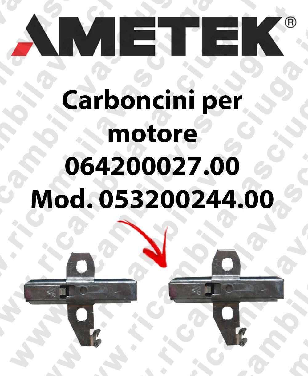 Couple du Carbon MOTEUR  aspiration pour MOTEUR  Ametek 064200027 Cod: 053200244.00