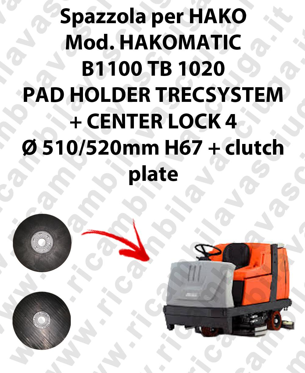 PAD HOLDER TRECSYSTEM  pour autolaveuses HAKO Reference HAKOMATIC B1100 TB 1020