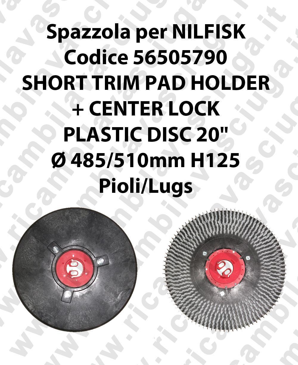 SHORT TRIM PAD HOLDER + CENTERLOCK pour autolaveuses NILFISK code 56505790